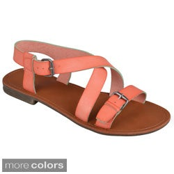Journee Collection Women's 'Cable' Strappy Buckle Detail Sandals