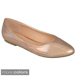 Journee Collection Women's 'Tory' Metallic Ballet Flats