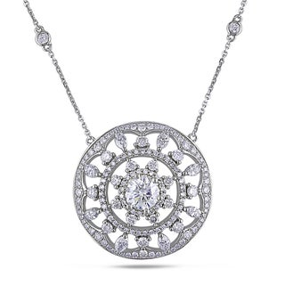Miadora 14k Gold 3 1/4ct TDW Certified Medallion Diamond Necklace