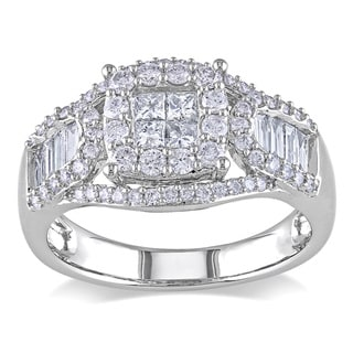 Miadora 14k White Gold 1 1/10ct TDW Diamond Ring (G-H, I1-I2)