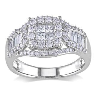 Miadora 14k White Gold 1 1/10ct TDW Diamond Ring (G-H, I1-I2)