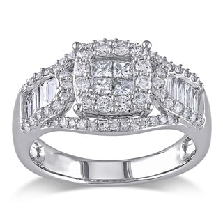 Miadora Signature Collection 14k White Gold 1 1/10ct TDW Certified Diamond Ring (G-H, I1-I2)
