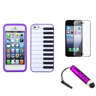 BasAcc Screen Protector/ Stylus/ Pastel Skin Case for Apple� iPhone 5