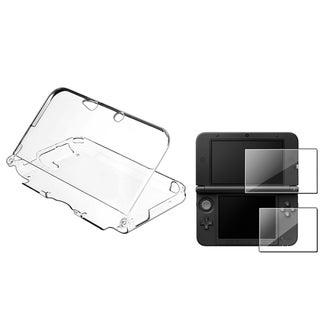 BasAcc Clear Case/ Screen Protector Set for Nintendo 3DS XL