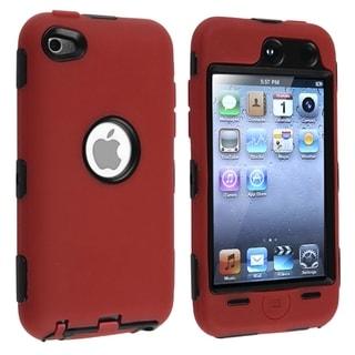 BasAcc Black/ Red Hybrid Case for Apple iPod Touch 4