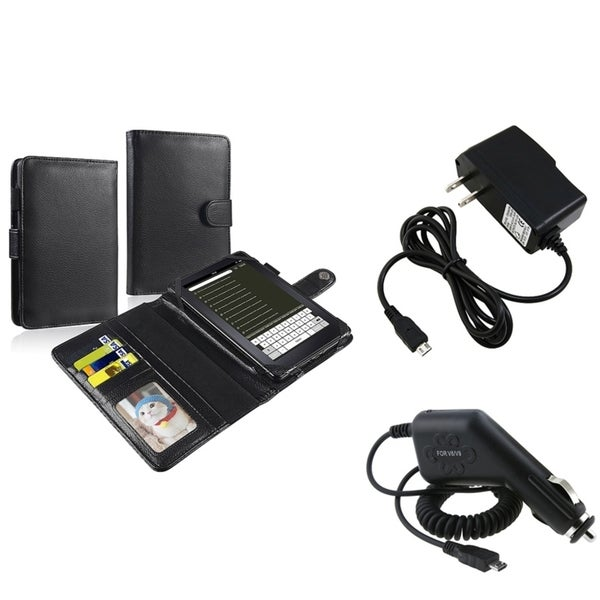 BasAcc Black Case/ Travel Charger/ Car Charger for Amazon Kindle Fire