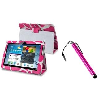 INSTEN Giraffe Tablet Case Cover/ Stylus for Samsung Galaxy Tab 2 10.1 P5100/ P5110