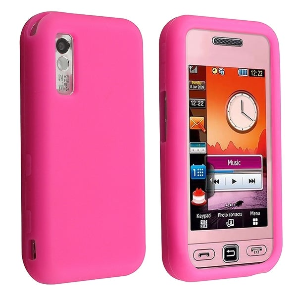 INSTEN Pink Soft Silicone Phone Case Cover for Samsung S5230 Star