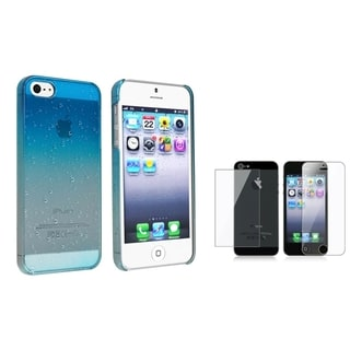 INSTEN Blue Phone Case Cover/ Screen Protector for Apple iPhone 5/ 5S