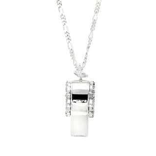 Whistle necklace with crystal trim