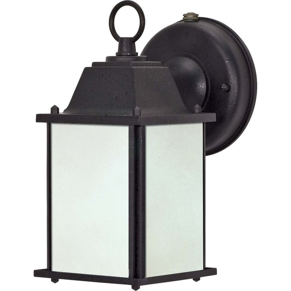Nuvo 1-light Textured Black Energy Efficient Outdoor Wall Sconce