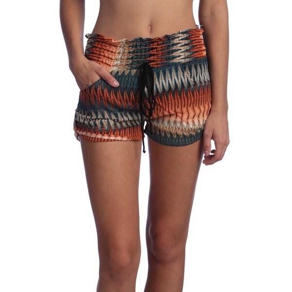 Women's Epoulette Button Tab Shorts