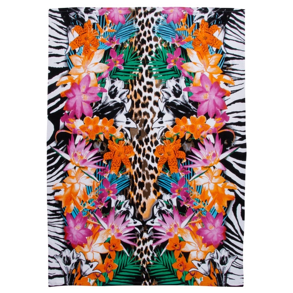 Tropical Animal Print Extra Wide Beach Towel