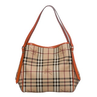 Burberry 3888778 Small Haymarket Canterbury Tote