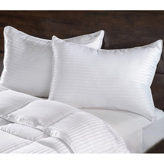 Luxurious Down Alternative Striped Pillows (Set of 2)