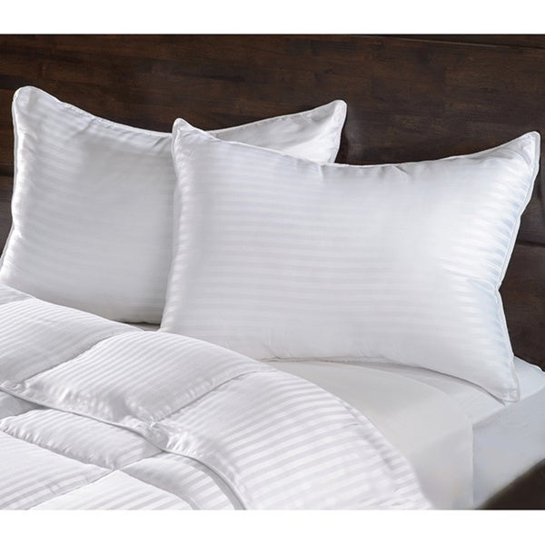 Grand Down Luxurious Down Alternative Striped Pillows (Set of 2)
