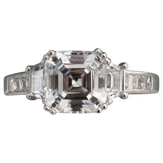 NEXTE Jewelry Sterling Silver Asscher-cut Cubic Zirconia Engagement-style Cocktail Ring
