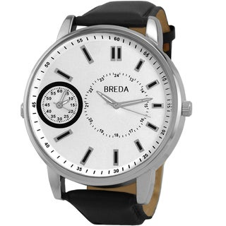 "Breda Men's ""Aaron"" Leather Band Watch"