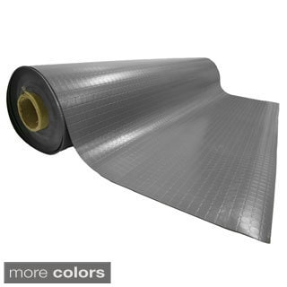 Rubber-Cal Block-Grip Rubber Flooring Rolls - 2mm thick x 4ft. Wide Rubber Rolls 3 Colors Available in 17 Lengths