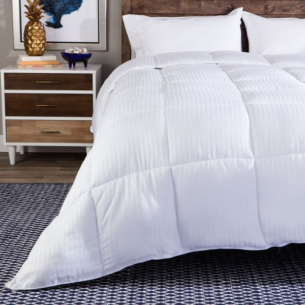 Grand Down All-season Luxurious Down Alternative Hypoallergenic Striped Comforter