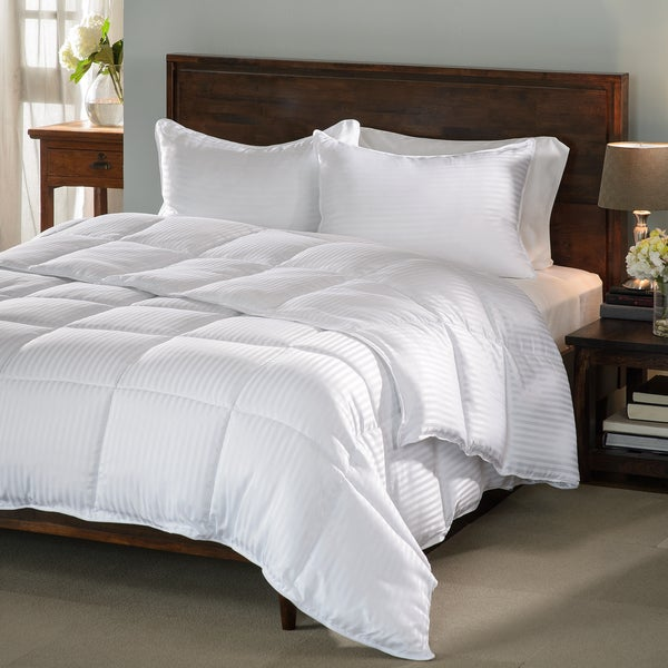 Grand Down All-season Luxurious Down Alternative Hypoallergenic Striped Comforter Twin/Twin XL Only (As Is Item)