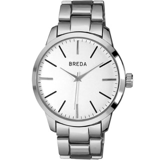 "Breda Men's ""Grant"" Three Link Metal Band Watch"