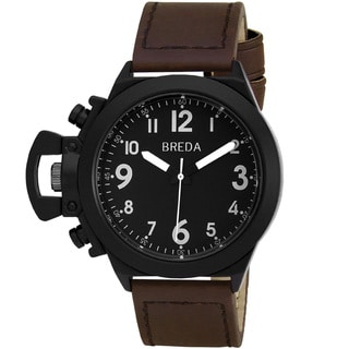 "Breda Men's ""Joseph"" Leather Band Watch"