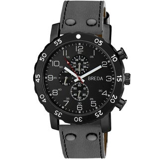 "Breda Men's ""Steve"" Leather Band Watch"