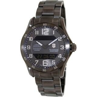 Swiss Army Men's V251404 'Chrono Classic' Black Dial Black Leather Strap Swiss Quartz Watch