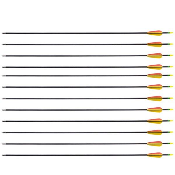 28-inch Archery Bow Fiberglass Arrows (1 Dozen) thumbnail