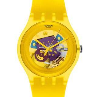 Swatch Women's Originals SUOJ100 Yellow Plastic Quartz Watch with Yellow Dial