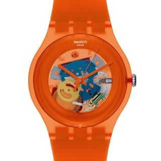 Swatch Women's Originals SUOO100 Orange Plastic Quartz Watch with Orange Dial
