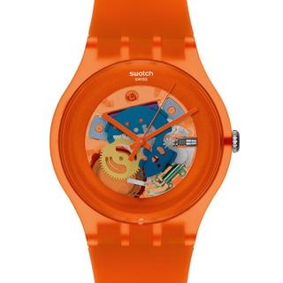 Swatch Women's Originals SUOO100 Orange Plastic Quartz Watch with Orange Dial