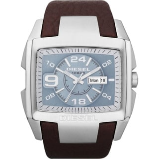 Diesel Men's DZ4246 Brown Leather Quartz Watch with Blue Dial
