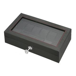 Diplomat Carbon Fiber Pattern Leather Watch Box