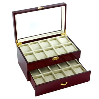 Diplomat Glossy Rosewood 20-watch Display Box