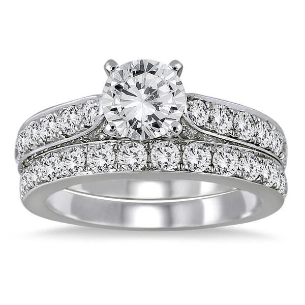 14K White Gold 2 1/2ct TDW Round Diamond Bridal Set (I-J, I2-I3)
