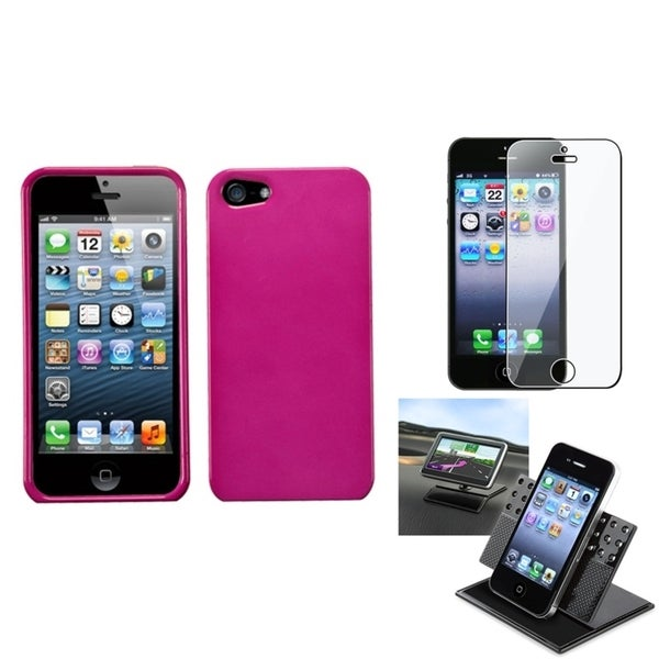 INSTEN Car Dashboard Holder/ Screen Protector for Apple iPhone 5