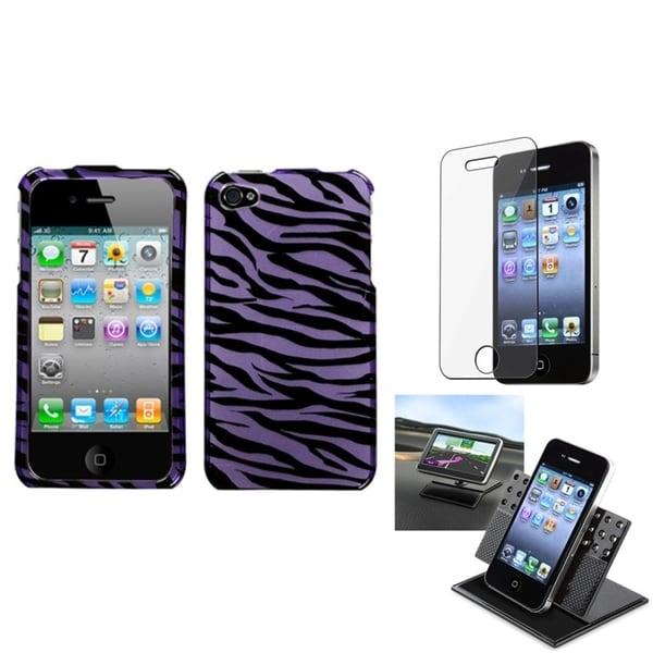 BasAcc Car Dashboard Holder/ Zebra Skin Case for Apple® iPhone 4/ 4S
