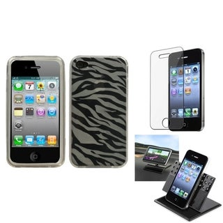 BasAcc Car Dashboard Holder/ Candy Skin Case for Apple� iPhone 4/ 4S