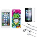 BasAcc Screen Protector/ Headset/ Candy Skin Case for Apple� iPhone 5