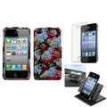 BasAcc Car Dashboard Holder/ Flower Power Case for Apple� iPhone 4/ 4S