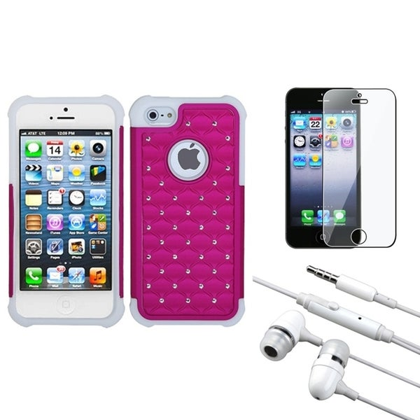INSTEN Clear Screen Protector/ Headset/ Phone Case Cover for Apple iPhone 5