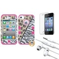 BasAcc Screen Protector/ Headset/ Hybrid Case for Apple iPhone 4/ 4S