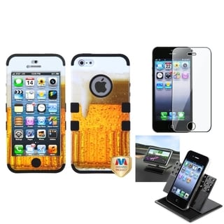 BasAcc Car Dashboard Holder/ TUFF Hybrid Case for Apple� iPhone 5