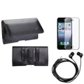 BasAcc Screen Protector/ Headset/ Braided Pouch for Apple� iPhone 5/ 5S/ 5C