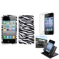 BasAcc Car Dashboard Holder/ Zebra Skin Case for Apple� iPhone 4/ 4S