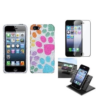 BasAcc Car Dashboard Holder/ Diamante Case for Apple� iPhone 5