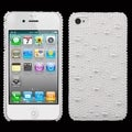 BasAcc White Pearl Diamante Back Case for Apple iPhone 4S/4