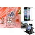 BasAcc Car Dashboard Holder/ 3D Diamante Case for Apple� iPhone 5